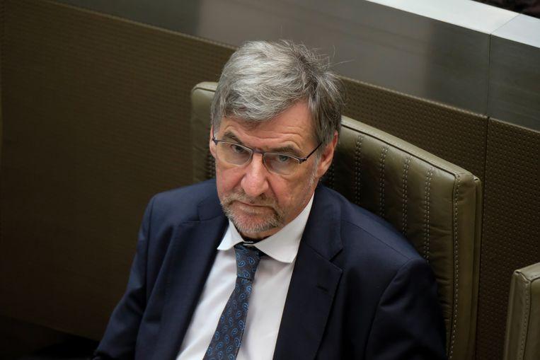 Wilfried Vandaele, fractievoorzitter voor N-VA in het parlement, komt.