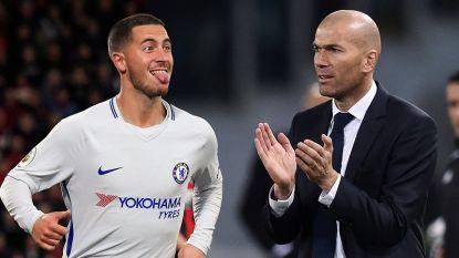 Eindelijk verenigd na 10 jaar flirten: Eden Hazard en Zinédine Zidane