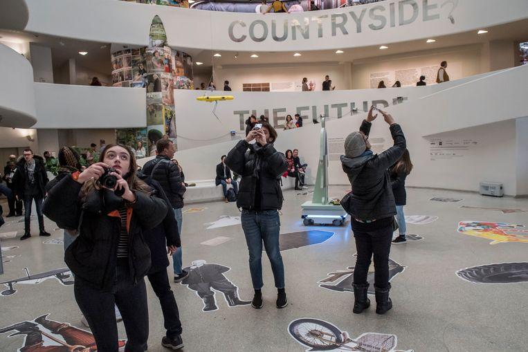 'Countryside: The Future', expositie van Rem Koolhaas in het Guggenheim Museum, New York. Beeld Cynthia van Elk