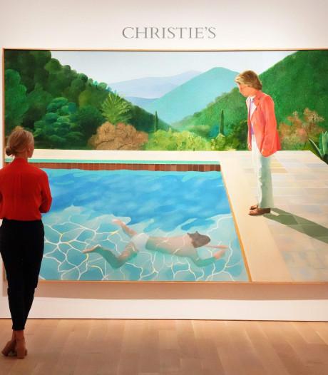 Recordbedrag van 80 miljoen euro voor schilderij Hockney