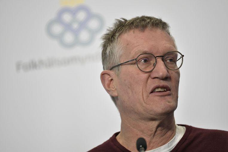De Zweedse staatsepidemioloog Anders Tegnell. Beeld AFP