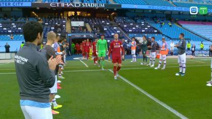 LIVE. Man City, met De Bruyne als aanvoerder, vormt erehaag voor kampioen Liverpool