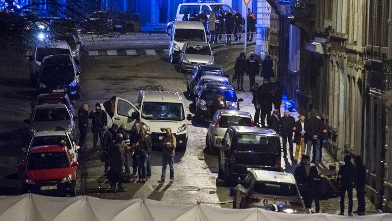Archiefbeeld van de inval in Verviers waarbij twee verdachten het leven lieten.