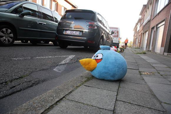 De bewoners van de Eizingenstraat in Halle voerden begin september actie met de vraag voor meer verkeersveligheid in de straat.