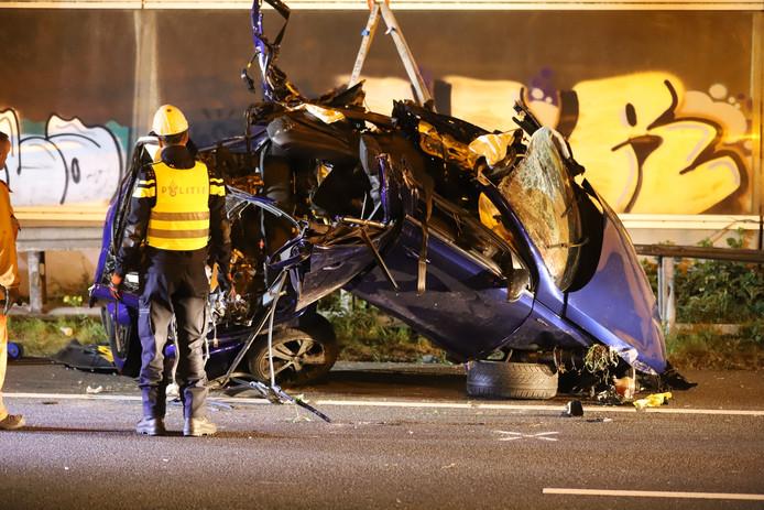 Vier doden bij ongeluk op de A12.