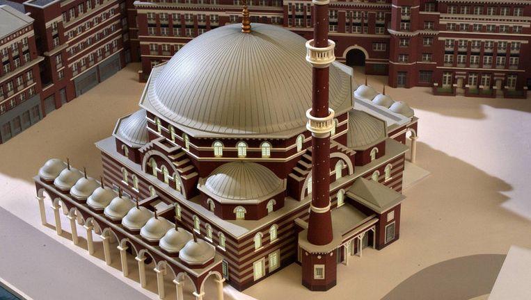 Maquette van de moskee. Foto Het Parool Beeld