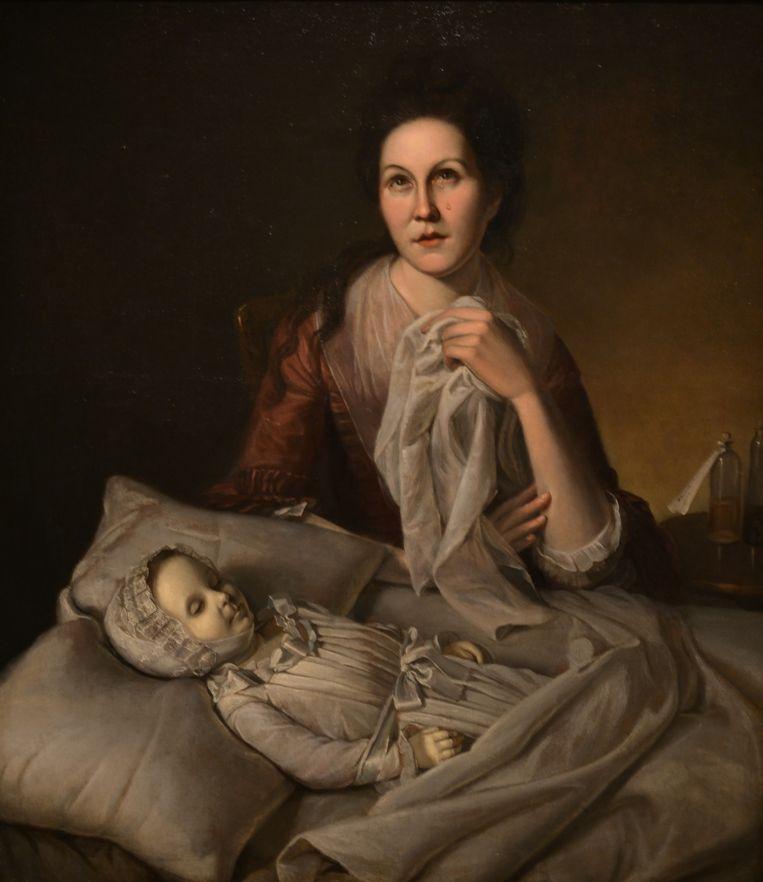 'Huilende Rachel', een schilderij van Charles Wilson uit 1776, staat op de omslag van het boek. Beeld *