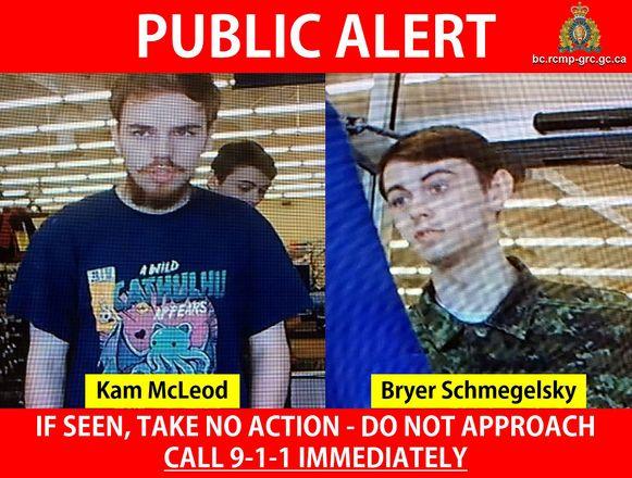 Kam McLeod en Bryer Schmegelsky.
