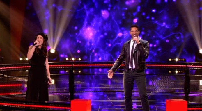 Richy Brown en Pilar Oreel in The Voice of Holland