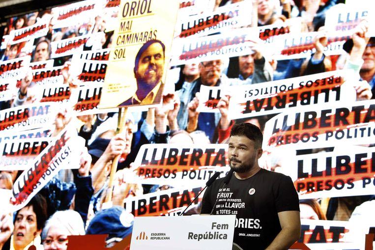 Oriol Junqueras en zijn medestanders werden na het verboden onafhankelijkheidsreferendum in oktober gearresteerd.