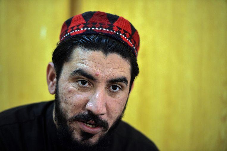 Manzoor Pashteen, de welbespraakte leider van de Pashtun Beschermingsbeweging (PTM). Beeld AFP