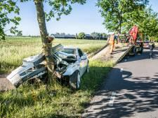 Engelbewaarder? Automobilist botst frontaal tegen boom, met schrik vrij