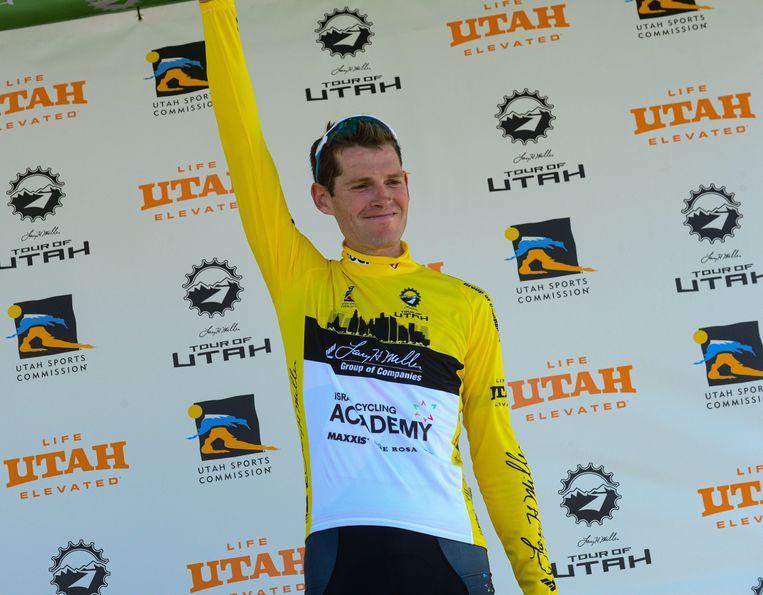 Ben Hermans de onbedreigde gele trui in Utah.