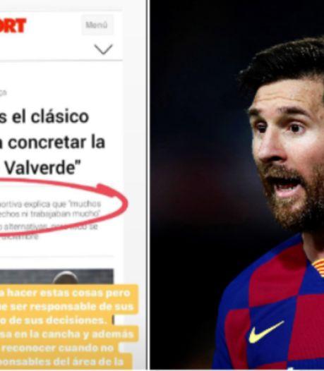 Rarissime: Lionel Messi sort de sa réserve et allume Éric Abidal