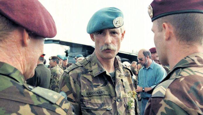 Commandant Thom Karremans in 1995. Hij wordt weer voor de rechter gedaagd om Srebrenica.