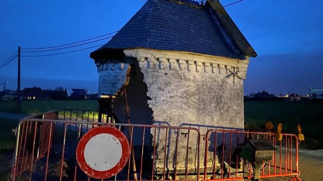 Wie probeert het kapelletje in de Caseelstraat af te breken? Muur moet gestut na vandalenstreken