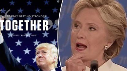 Trump neemt slogan Hillary Clinton over en Twitter laat het niet passeren