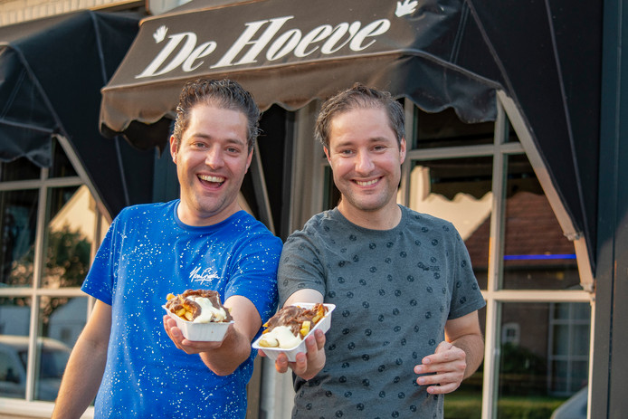 Pieter en Frans van Heerbeek staan in Middelbeers bekend als 'de Frietjes'.