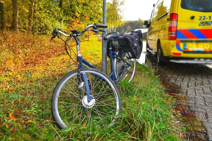 De fiets na het ongeluk.