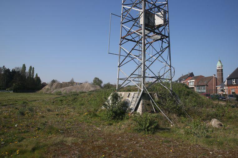 Waar vroeger het Ottenstadion stond: één lichtpaal, en braak terrein.
