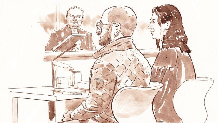 Bart van U. en zijn advocaat Mr. Noëlle Pieterse. Beeld ANP