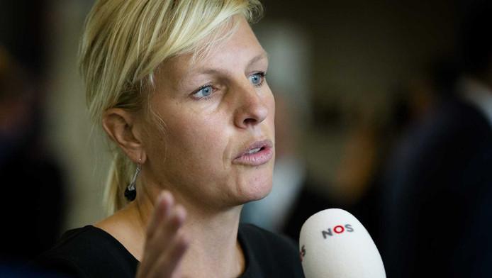 Kamerlid Attje Kuiken (PvdA) tijdens het vragenuur in de Tweede Kamer.