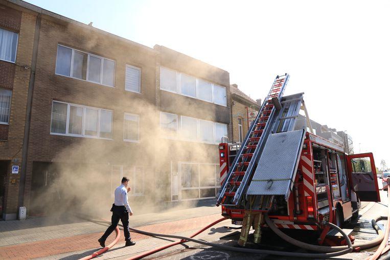 De brand ging gepaard met een zware rookontwikkeling.