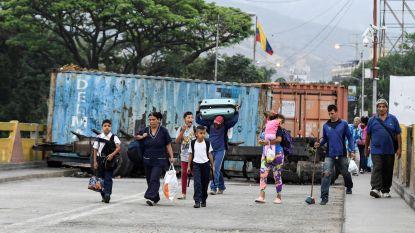 Duizenden Venezolanen vluchten naar Colombia via humanitaire corridor