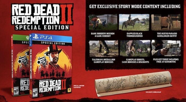 De speciale editie van 'Red Dead Redemption II'.