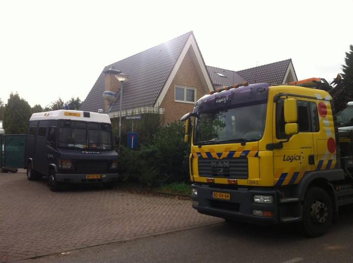In het woonwagencentrum aan de Deutersestraat werd in 2013 een massale inval gehouden.