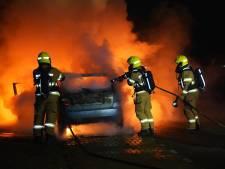 Auto verwoest door brand in Zevenaar