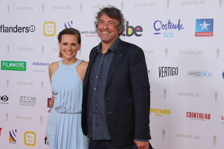 Veerle Baetens en haar partner Geert Vlegels.
