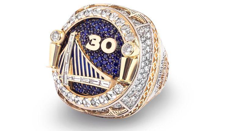 De ring voor de Golden State Warriors.  Beeld