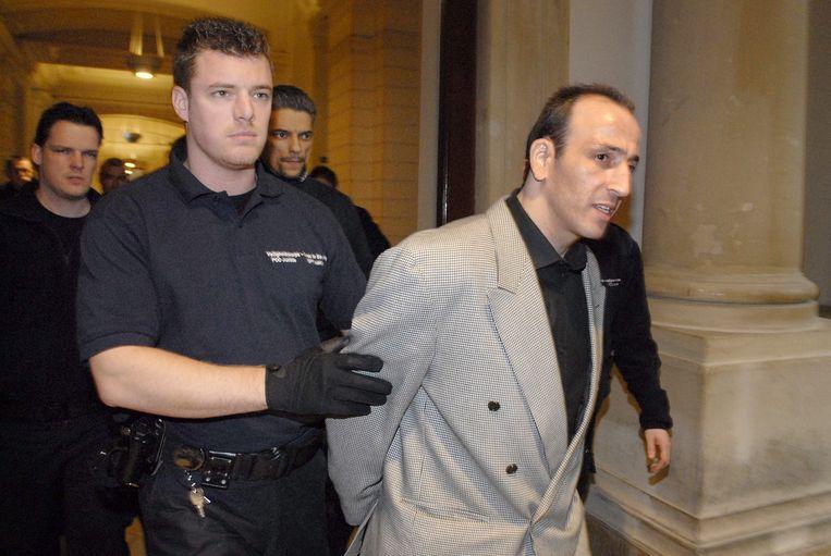 Farid Bamouhammad op de eerste dag van het proces in februari in Brussel.