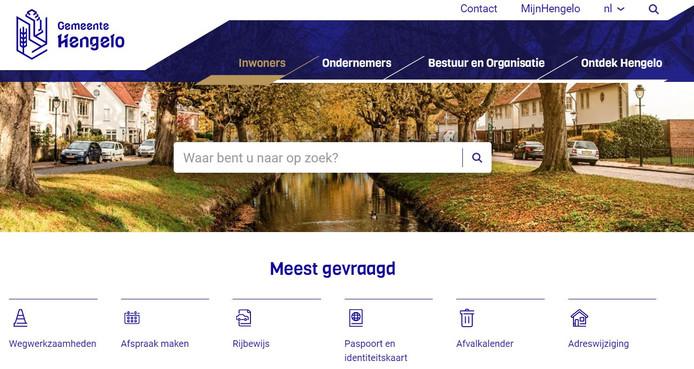 De nieuwe homepagina van de website van de gemeente Hengelo