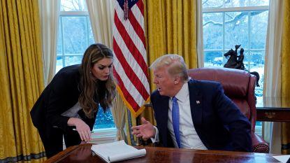 Hope Hicks, communicatiechef van Trump, neemt ontslag