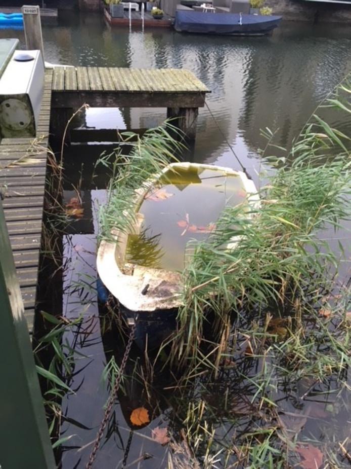 Verwaarloosde boot in Waterrijk