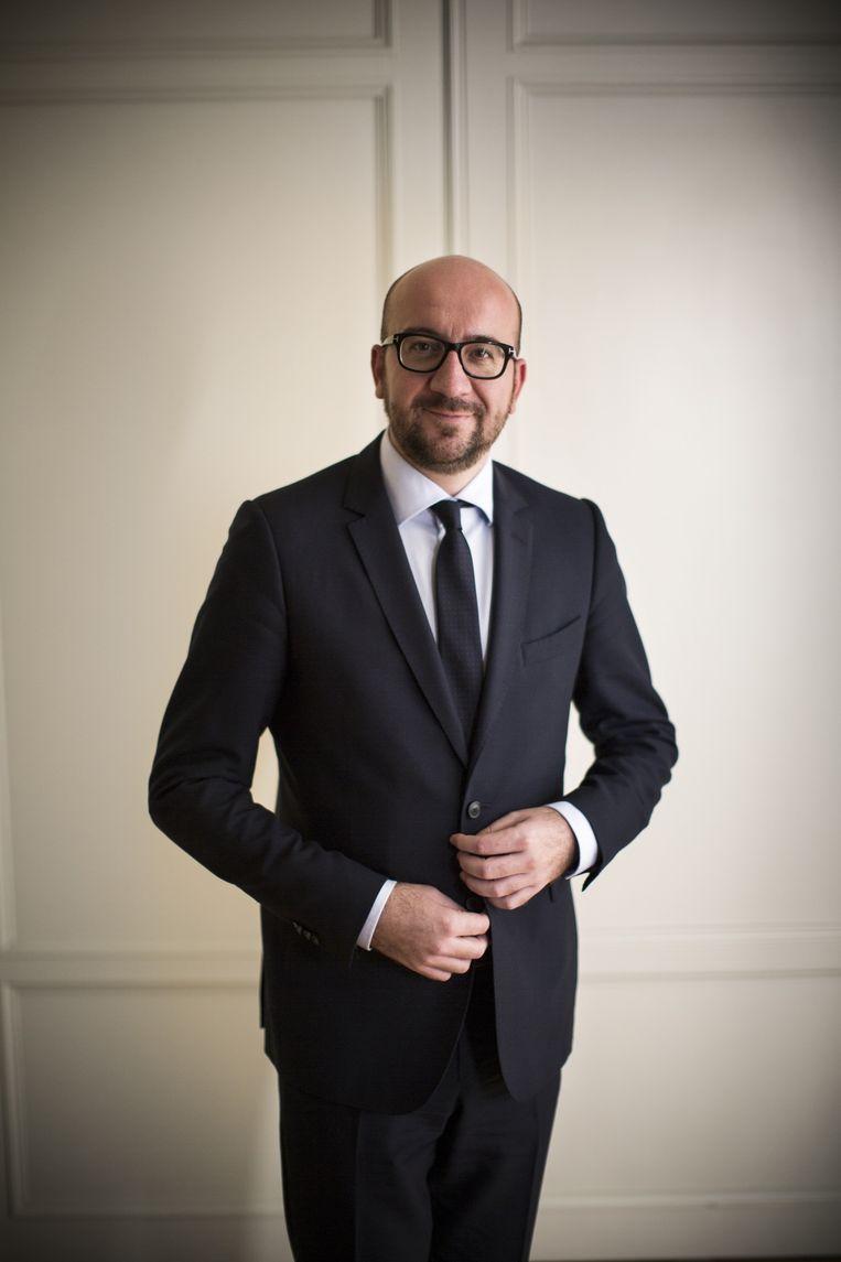 Charles Michel, de nieuwe Belgische premier, in de Belgische ambassade in Den Haag. Beeld Julius Schrank