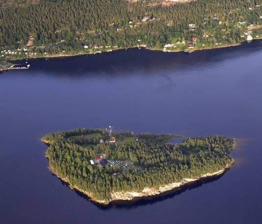 Utoya, vlak voor de Noorse kust.
