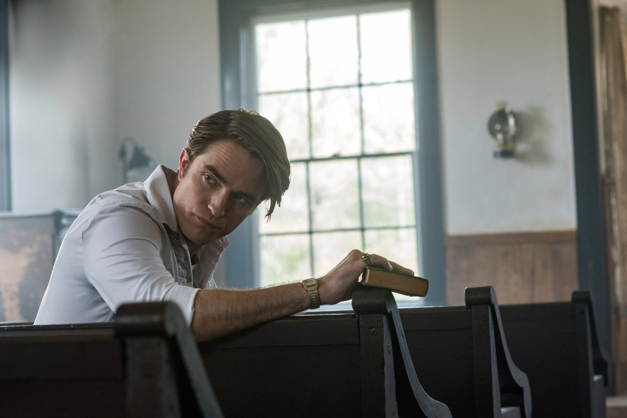 Robert Pattinson in 'The Devil All The Time' (Glen Wilson/Netflix via AP) Beeld AP