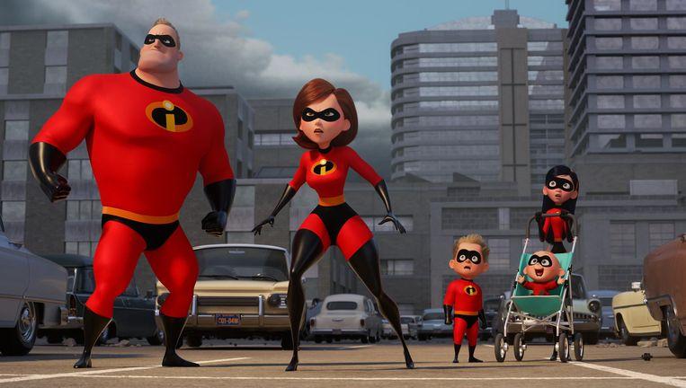 Ook in deze film zijn de 'supers' nog altijd verboden. Beeld Pixar