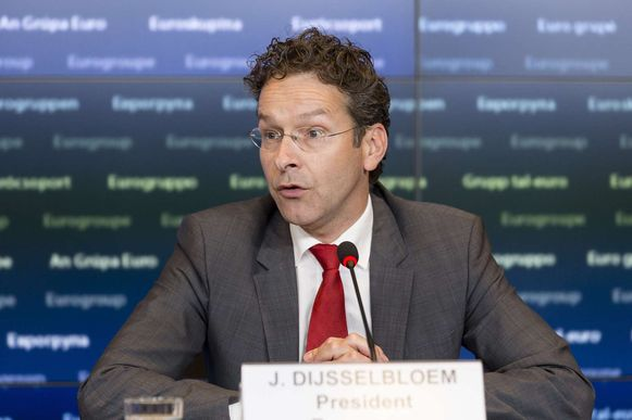 Jeroen Dijsselbloem, voorzitter van de eurogroep, de organisatie van landen die de euro als munt gebruiken.