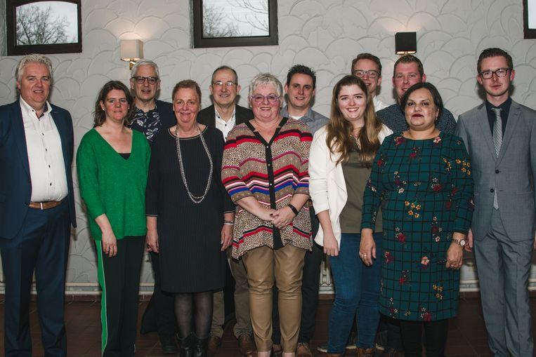 Het nieuwe partijbureau van CD&V Turnhout. Alleen Luc Hermans ontbreekt.