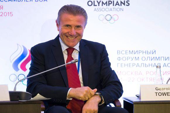 Voormalig polsstokhoogspringlegende en huidig IOC-lid Sergei Bubka.
