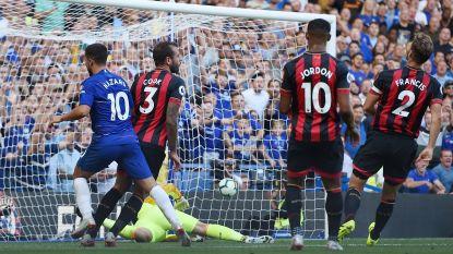 Eden op z'n best: flitsende en scorende Hazard draagt bij aan perfect rapport van Chelsea