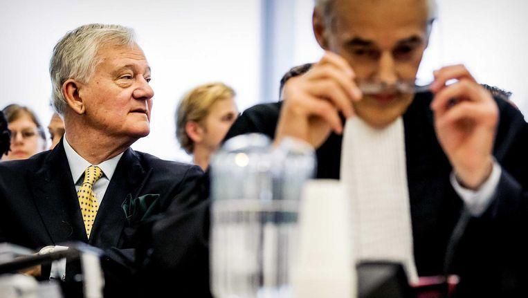 President-commissaris Antony Burgmans van AkzoNobel bij zitting Ondernemingskamer, 22 mei Beeld anp