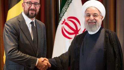 """Michel ontmoet Iraanse leider Rohani, uren na oproep Trump om land te isoleren: """"Moeten wij altijd honderd procent de VS volgen?"""""""