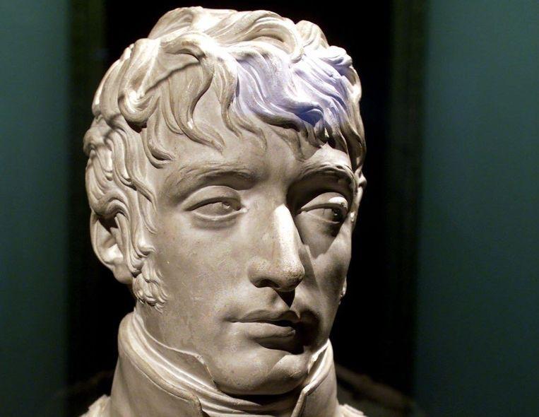 Een gipsen buste van Lodewijk Napoleon.  Beeld ANP