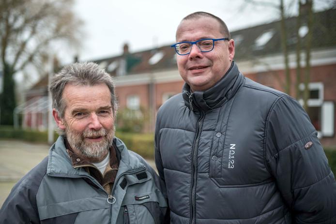 Theo Buijsse (links) en Chris de Meyer (rechts) van de Draaibruggerraat