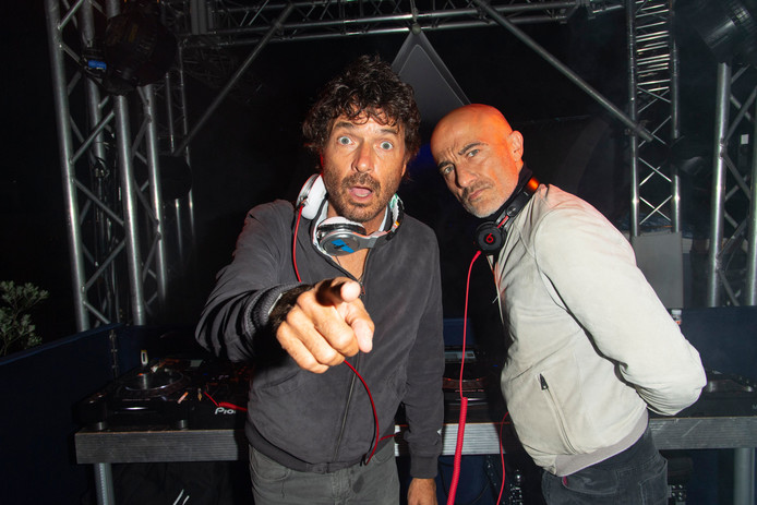 Le groupe Cassius Philippe Cerboneschi (« Zdar ») et Hubert Blanc-Francard (« Boom Bass »).